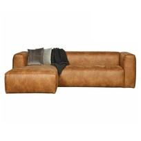 Hoekbank Bean Links Cognac - 305x96/175xH73 cm