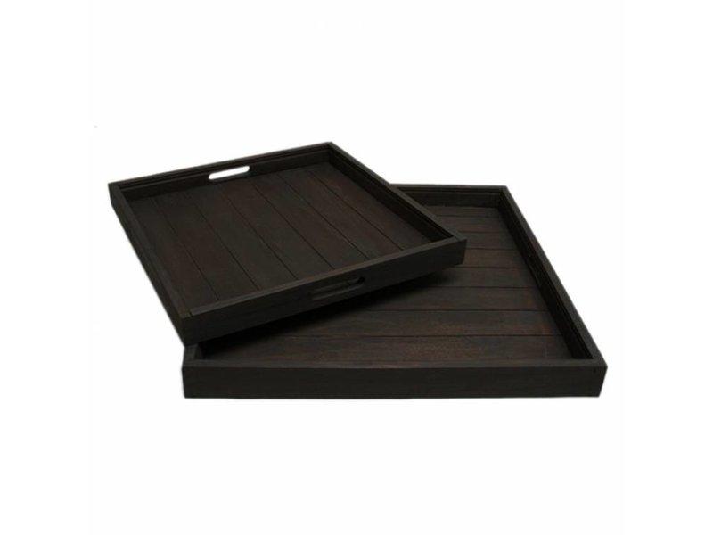 GeWoon Dienblad vierkant zwart - 50x50 cm