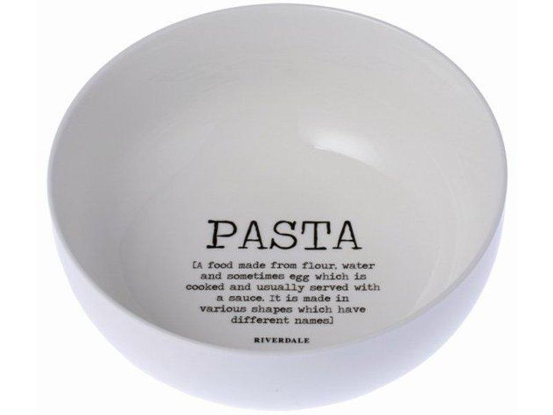 Riverdale Pastaschaal Wit - Ø23xH9,5 cm