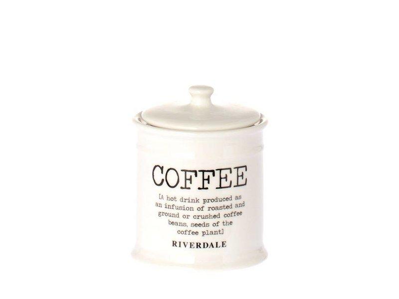 Riverdale Voorraadpot Koffie Wit - Ø10xH12,5 cm