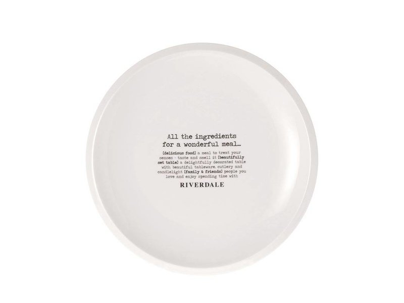 Riverdale Dinerbord All Ingredients Wit - Ø26,5xH2,5 cm