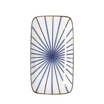 Bord Lines Blauw Rechthoek - 12,5x22,5xH2 cm