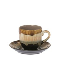 Kop & schotel Vintage Bruin - 8,5x11xH8 cm