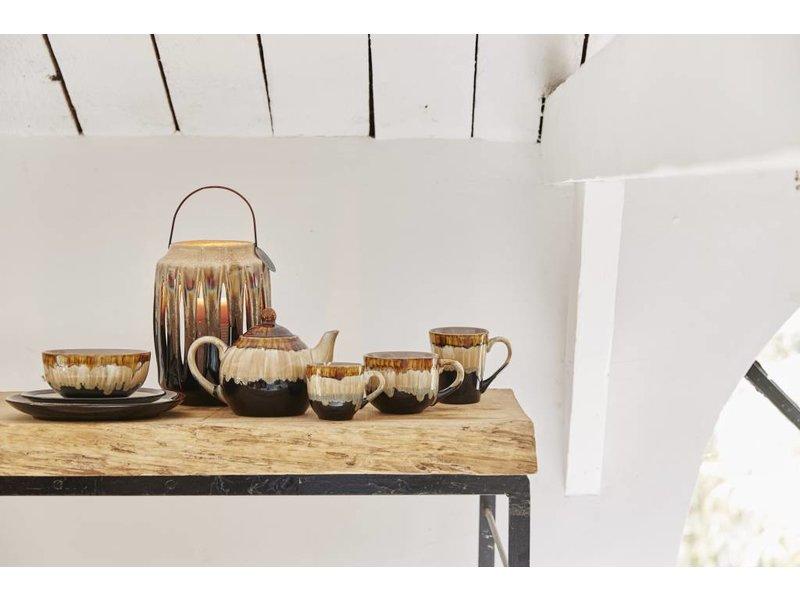 Riverdale Kop & schotel Vintage Bruin - 8,5x11xH8 cm