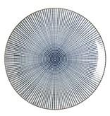 Riverdale Ontbijtbord Stripes Blauw - Ø22xH2,5 cm