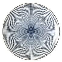 Ontbijtbord Stripes Blauw - Ø22xH2,5 cm