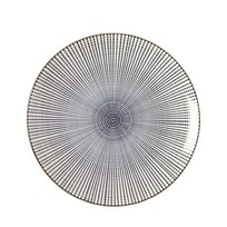 Dinerbord Stripes Blauw - Ø27xH3 cm
