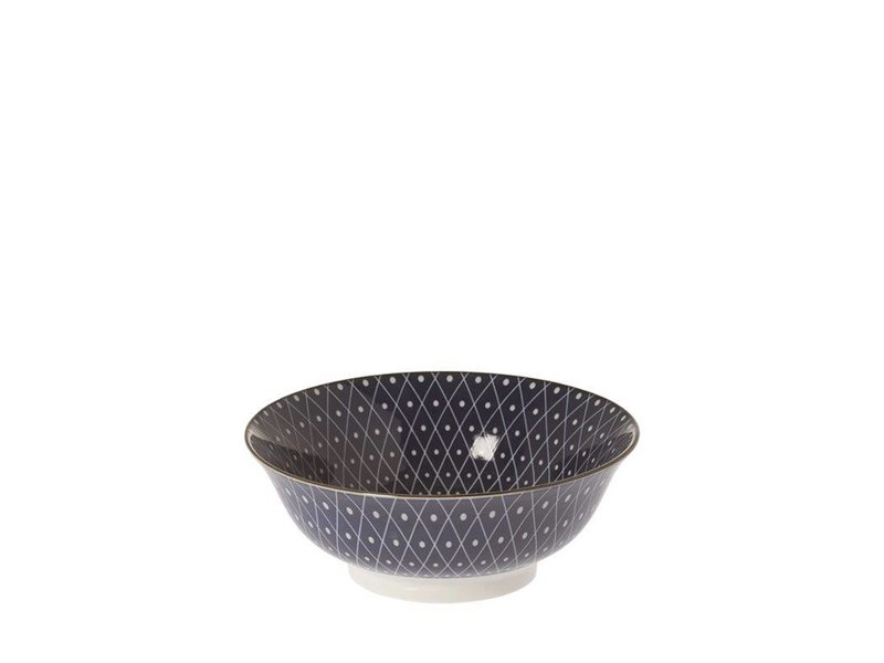 Riverdale Schaal Dots Blauw - Ø21xH8 cm