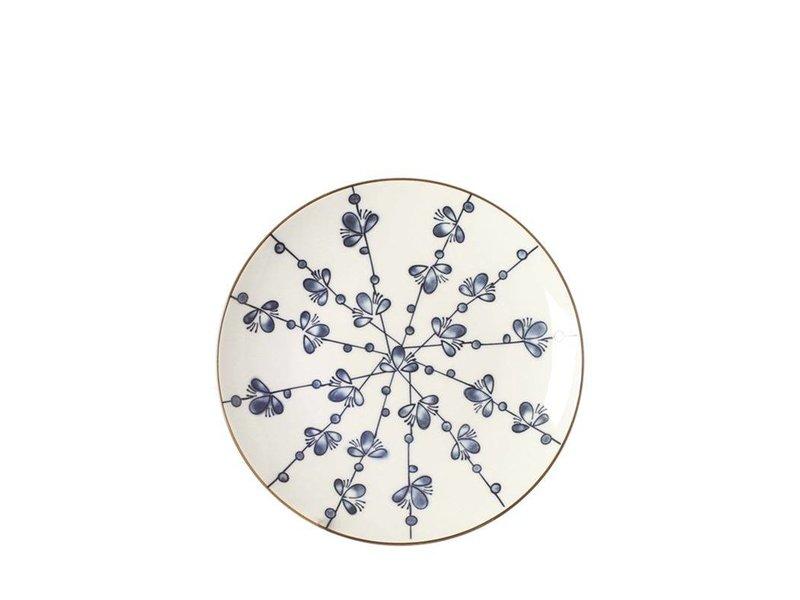 Riverdale Ontbijtbord Leaves Blauw - Ø21,5xH2,5 cm
