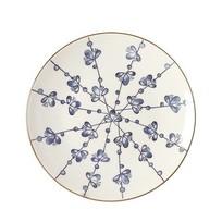 Dinerbord Leaves Blauw - Ø27xH3 cm