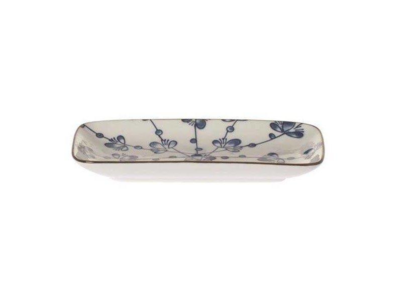 Riverdale Bord Leaves Blauw - 12x22xH2,5 cm