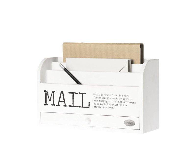 Riverdale Mailbox Mail Wit - 10x30xH18 cm