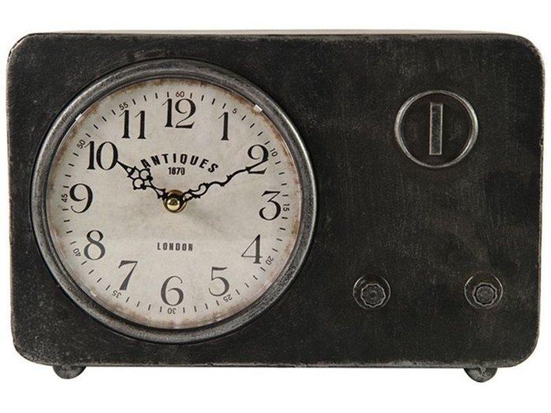 Countryfield Tafelklok Fred Zwart - 20x7,5xH20,5 cm