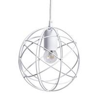 Ronde Hanglamp Wit Metaal - Ø20 cm