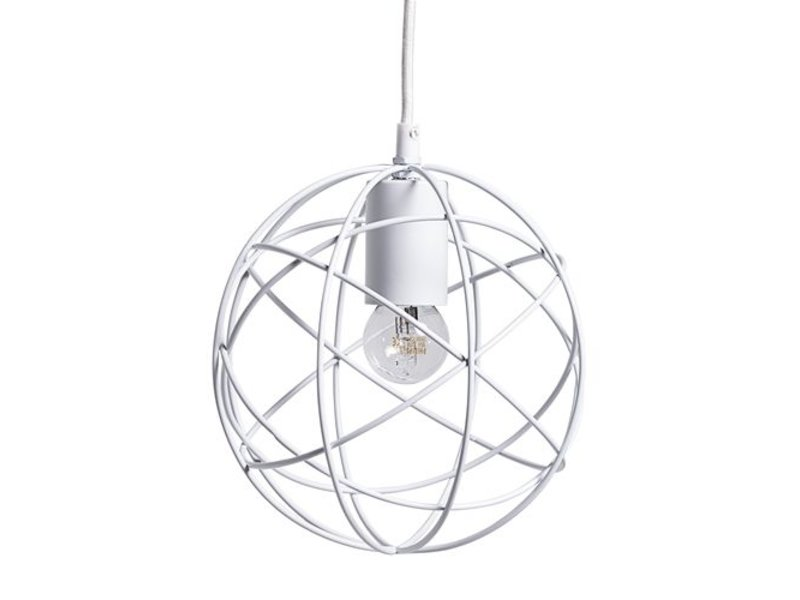 Bloomingville Ronde Hanglamp Wit Metaal - Ø20 cm