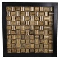 Wandpaneel Block Zwart - 60x60 cm