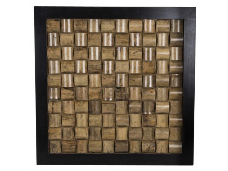PTMD Collection Wandpaneel Block Zwart - 60x60 cm
