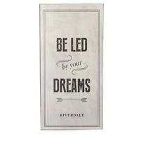 Tekstbord Dreams Grijs - 30x1xH60 cm
