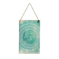 Tekstbord Circle Aqua Blauw - 23x1xH38 cm