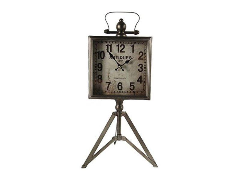 Countryfield Tafelklok Jeremy Grijs - 20,5x6xH54 cm