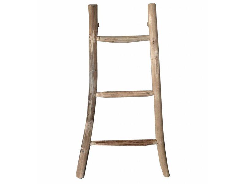 GeWoon Decoratie ladder Teak Naturel - 30/50xH90 cm