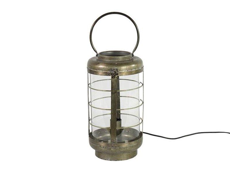 Countryfield Tafellamp Bertold Grijs - Ø20,5xH52 cm