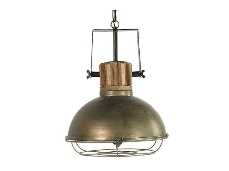 Countryfield Hanglamp Etiënne Grijs Rond - 39x40xH154 cm