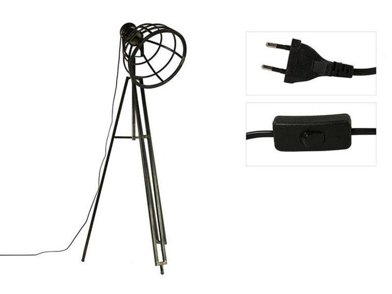 Countryfield Vloerlamp Eveline Grijs - 65x60xH180 cm