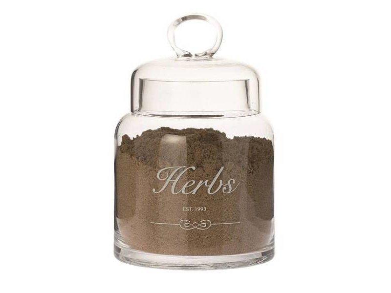 Riverdale Voorraadpot Herbs Glas - Ø13xH20 cm