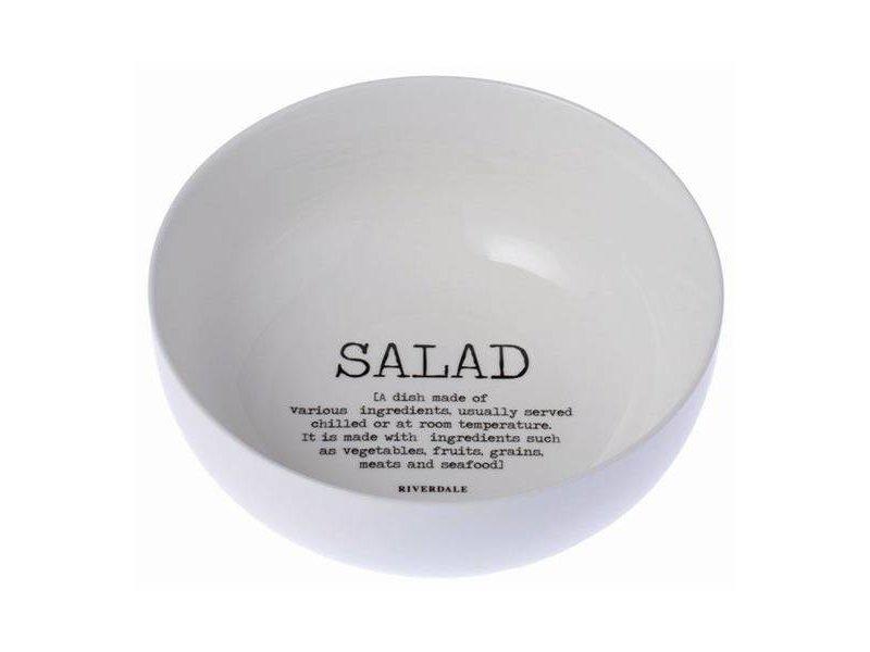 Riverdale Saladeschaal Wit - Ø23xH9,5 cm