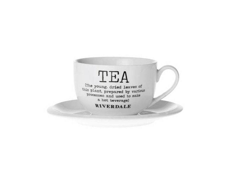 Riverdale Kop & schotel Tea - Ø18xH8,5 cm