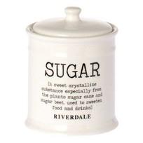 Voorraadpot Suiker Wit - Ø10xH12,5 cm