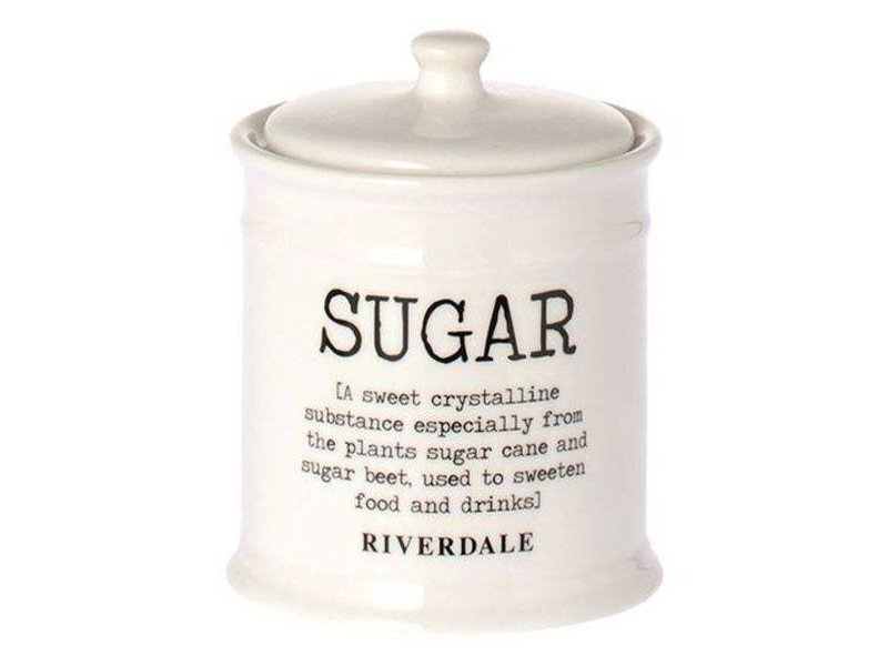 Riverdale Voorraadpot Suiker Wit - Ø10xH12,5 cm