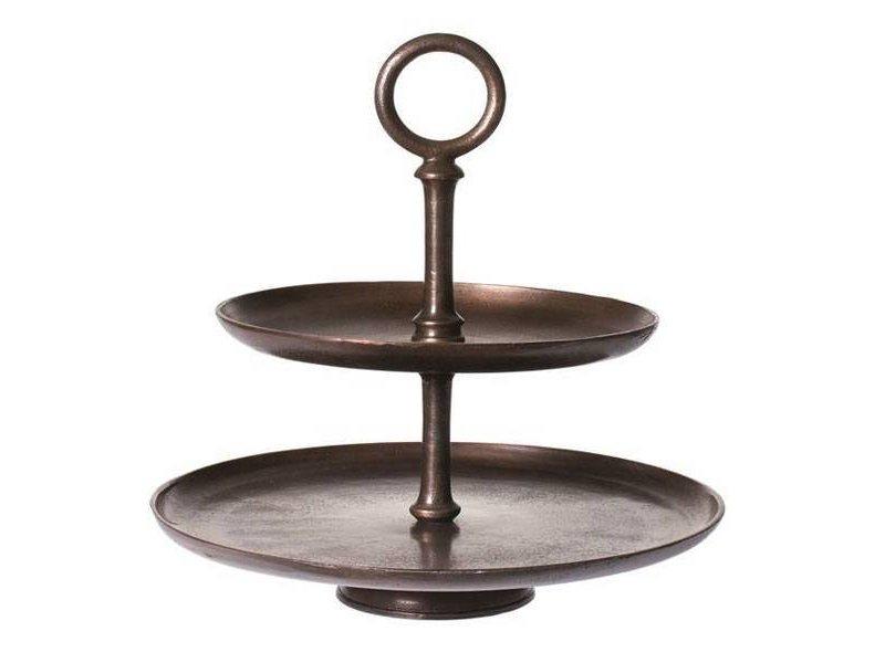 Riverdale Etagère Vintage Brons - Ø45,5xH46,5 cm