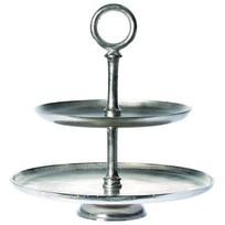 Etagère Vintage Zilver - Ø45,5xH46,5 cm