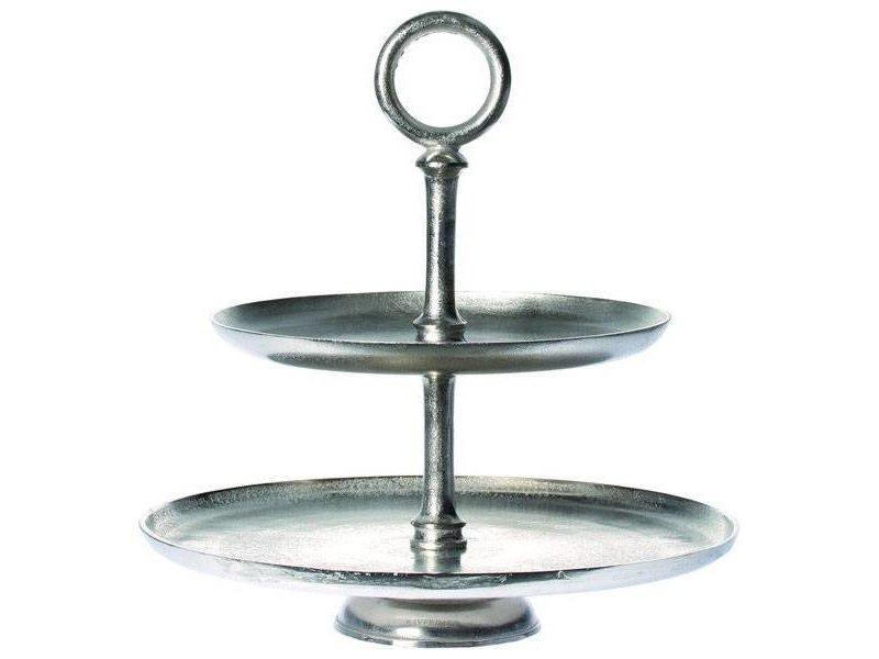 Riverdale Doorsnede: 45,5 cm Hoogte: 46,5 cm Kleur: Vintage zilver Materiaal: Metaal Merk: Riverdale