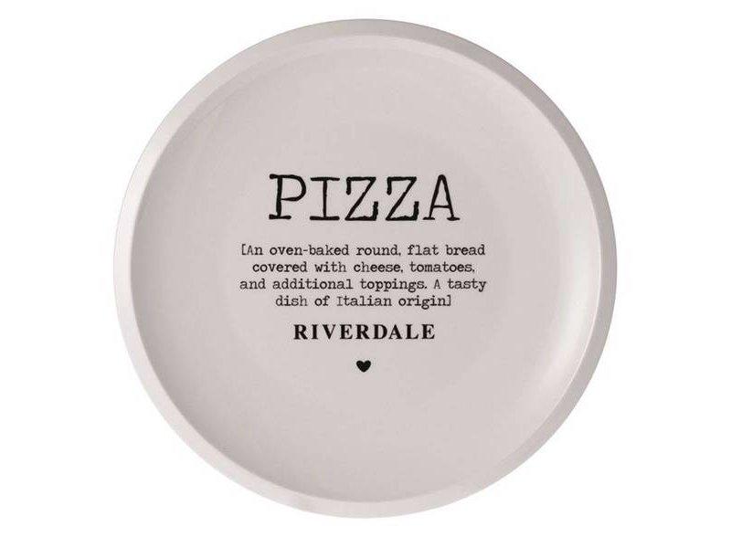 Riverdale Pizzabord Love Wit - Ø31,5xH3 cm