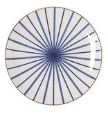 Riverdale Ontbijtbord Lines Blauw - Ø21,5xH2,5 cm