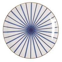 Ontbijtbord Lines Blauw - Ø21,5xH2,5 cm