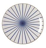 Riverdale Bord Lines Blauw - Ø26xH3 cm