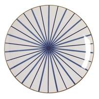 Bord Lines Blauw - Ø26xH3 cm