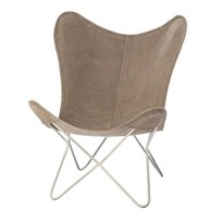 Vlinderstoel Brooklyn Grijs - 71x76xH92 cm