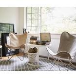 Riverdale Vlinderstoel Brooklyn Grijs - 71x76xH92 cm
