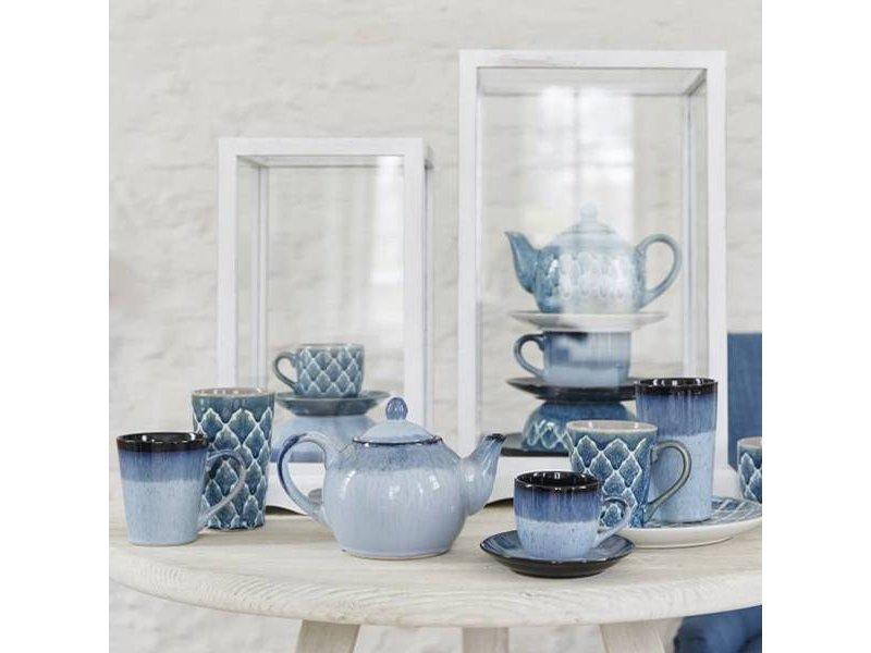Riverdale Mok Vintage Blauw - 13x9,5xH11 cm