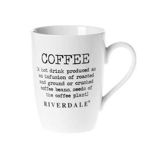 Riverdale Mok Coffee Wit - 12x8,5xH10,7 cm