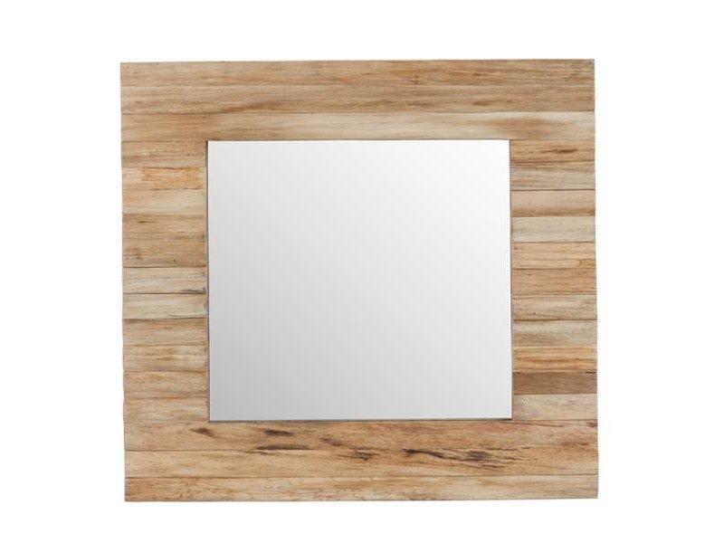 J-Line Vierkante Wandspiegel Naturel - 50x3xH50 cm