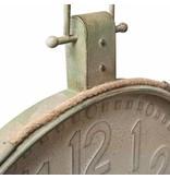 Clayre & Eef Wandklok Antiek Groen - 83x7xH105 cm