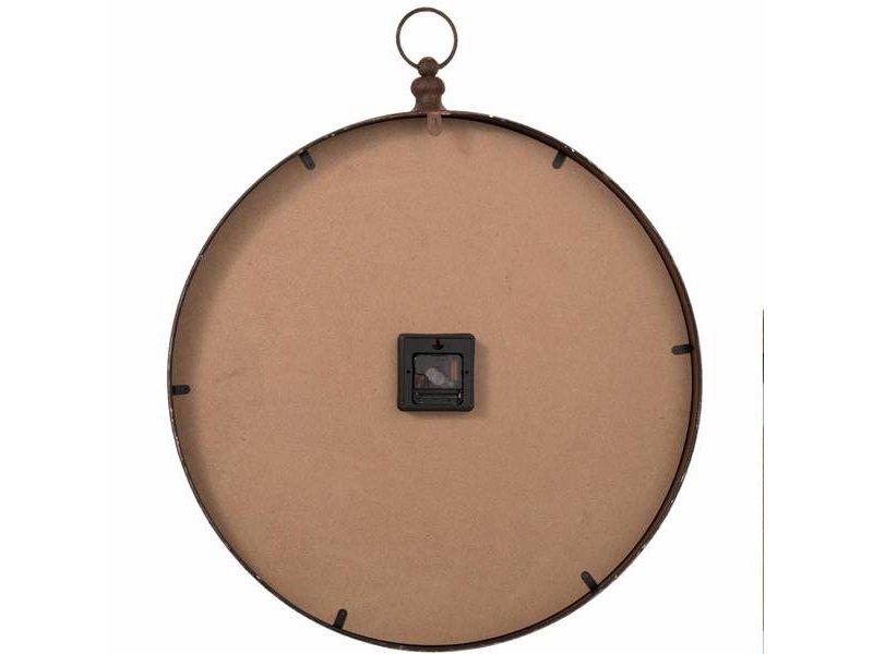 Clayre & Eef Wandklok Bruin Metaal - 60x7xH72 cm