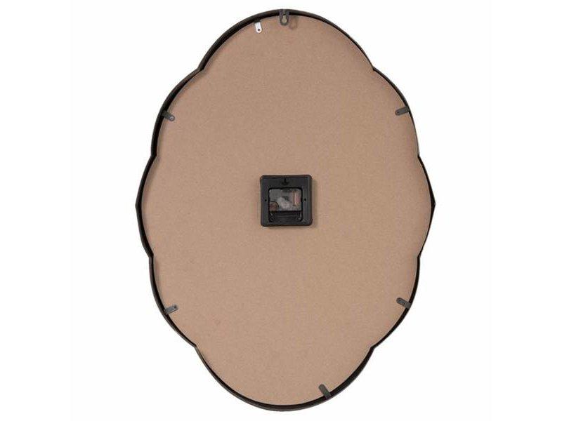 Clayre & Eef Wandklok Zilver Metaal - 50x7xH67 cm