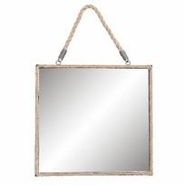 Vierkante Wandspiegel Jute - 35x3xH35 cm